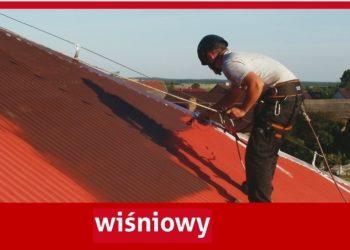 Farba na blachę do dachu - aksikor wisniowy